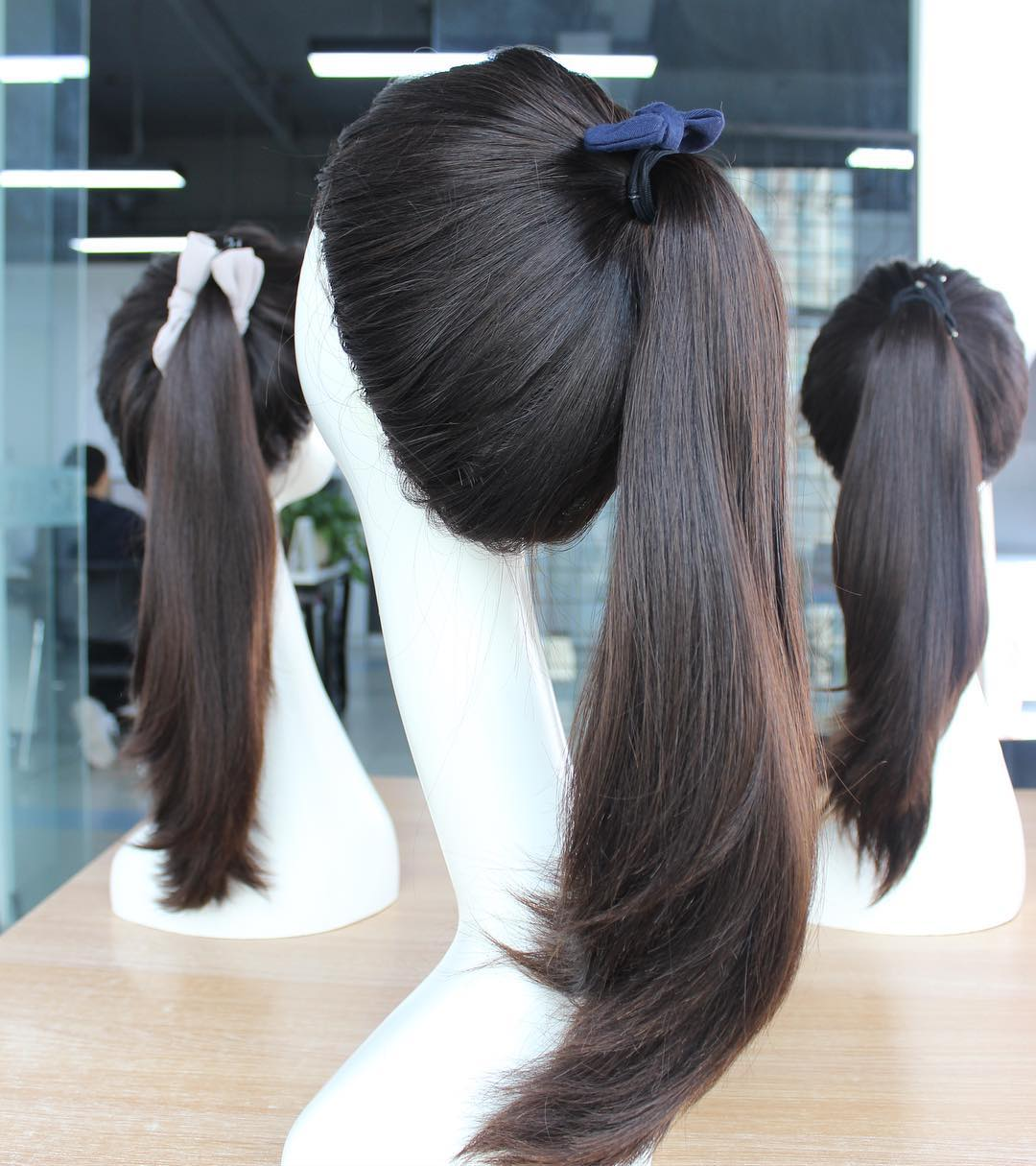 New Style Wholesale Natural Color Human Hair Silk Top Ponytail Sheitel Wig Jewish Wig Kosher Wigs