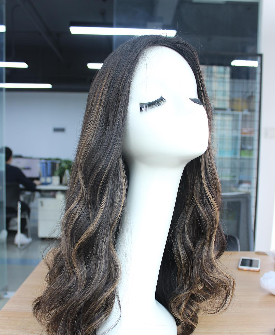 Human Hair Factory  Sheitals Human Hair Wigs Sheitals with Highlights