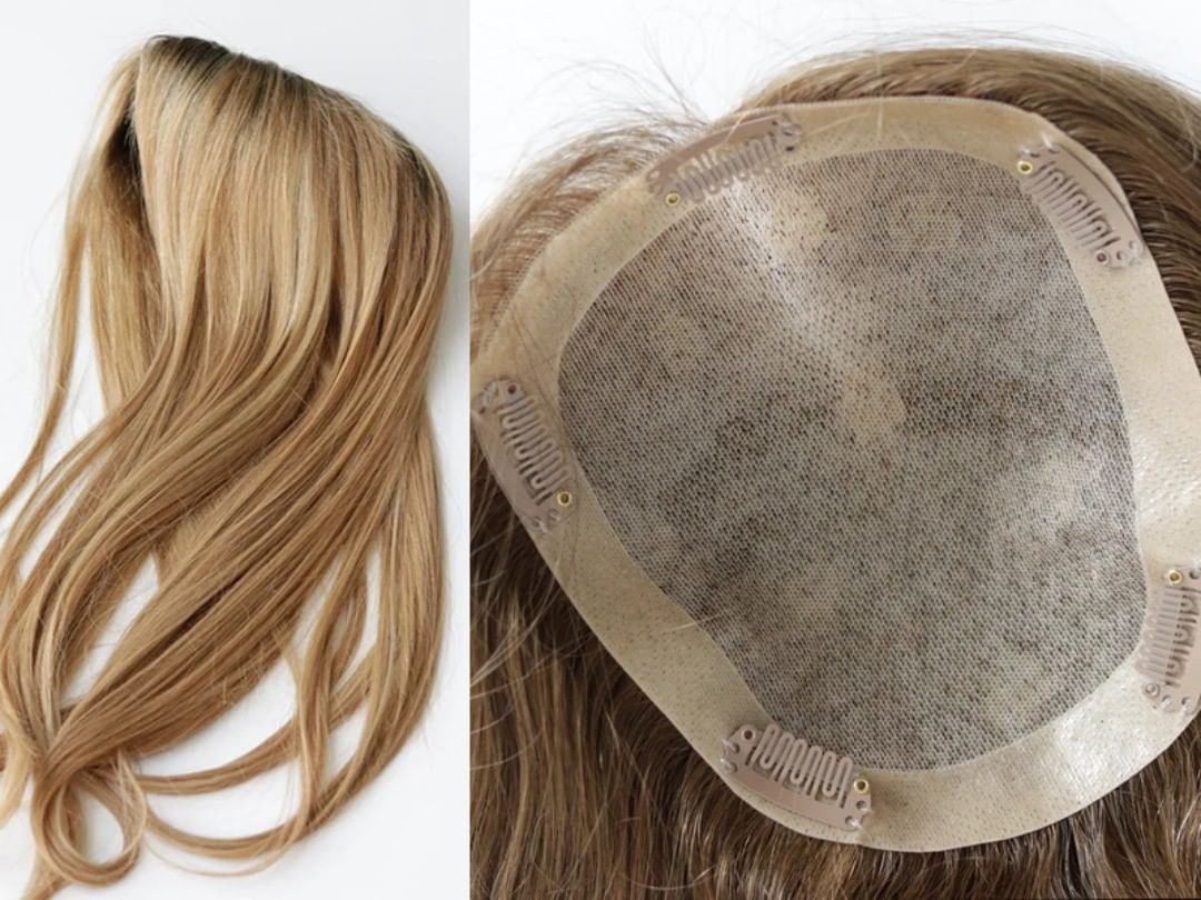 Blonde Topper Natural Scalp Wholesale Price In Stock From China