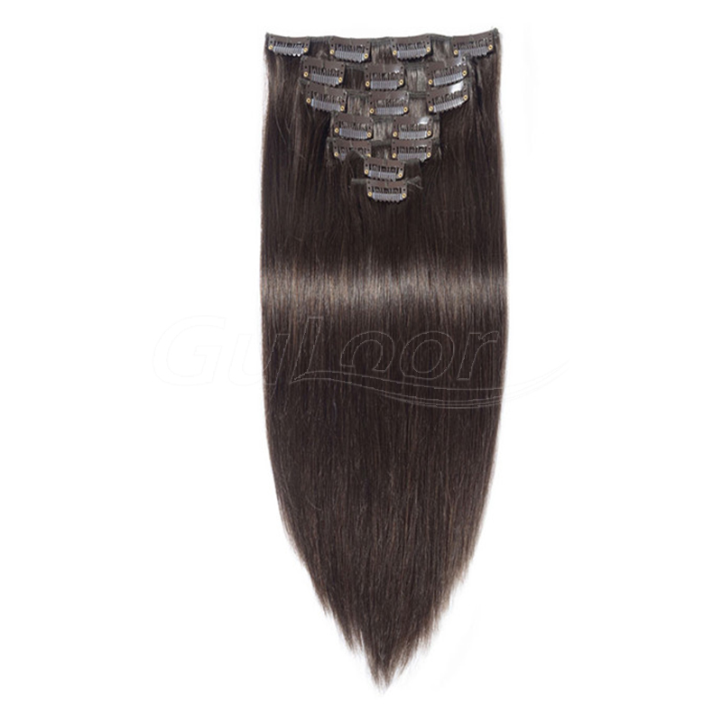 100% Remy human hair clip in extension ,human hair