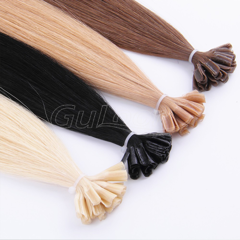 100% Unprocessed U Tip Extensions Human Hair Real Brazilian Keratin Pre Bonded