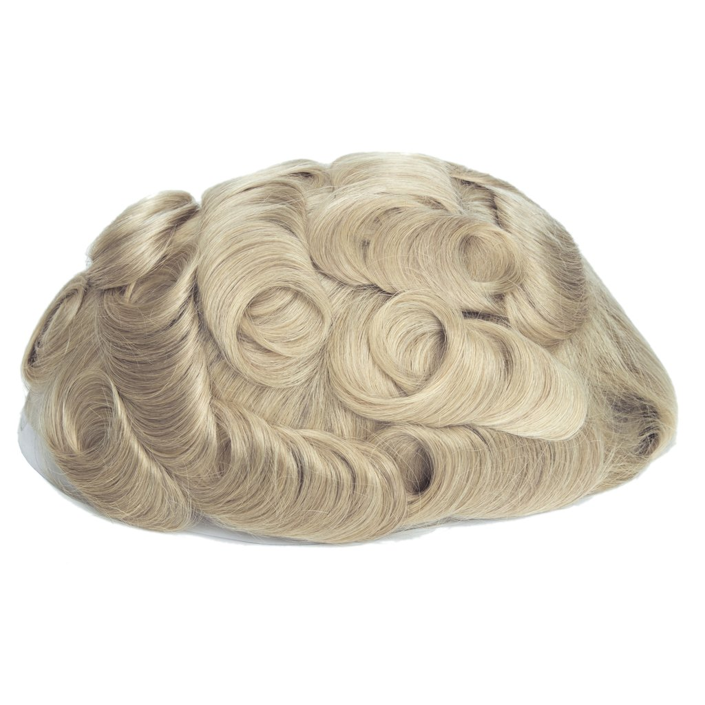 Mens Toupee Hairpiece NG Human Hair Systems 613#