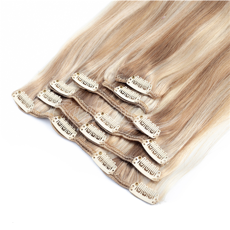Factory price wholesale different types clip in 100% human hair extensions