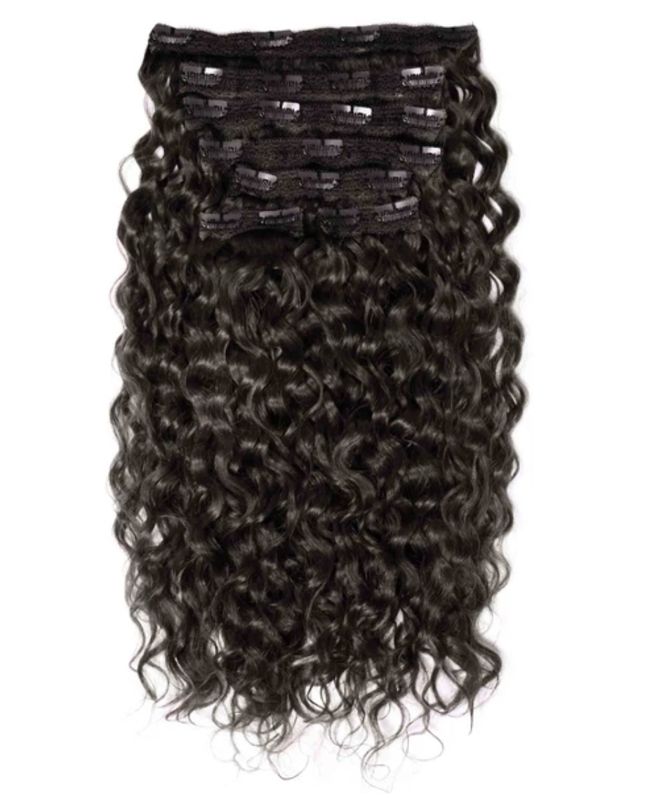 Curly Human Remy Hair 7 Piece Clip-In Set