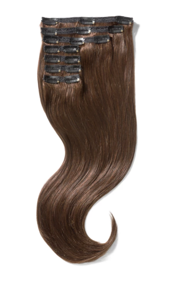 100% Indian Remy Clip-In Hair Extensions 120G 20'' Dark Brown