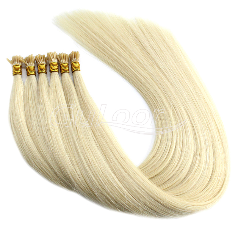 Wholesale extensions 100% I tip brazilian virgin remy human hair