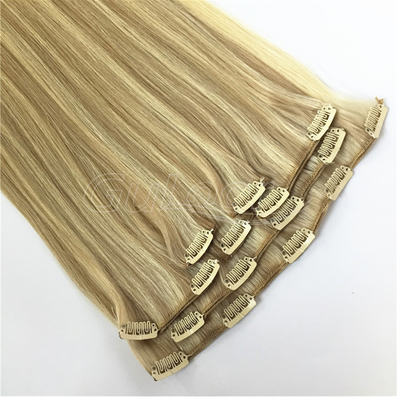 Fashionable and convenient human hair clip in hair extensions