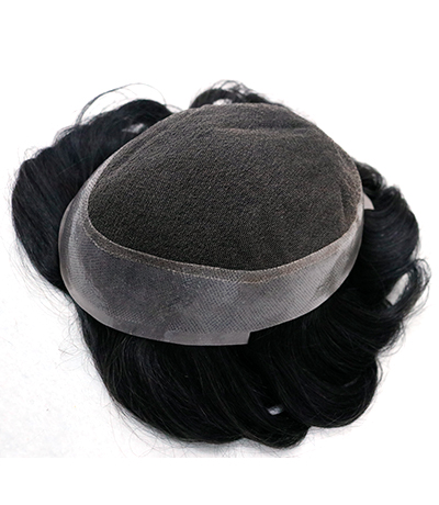 8*10 Men Toupee 100% Indian Human Hair Pu Around
