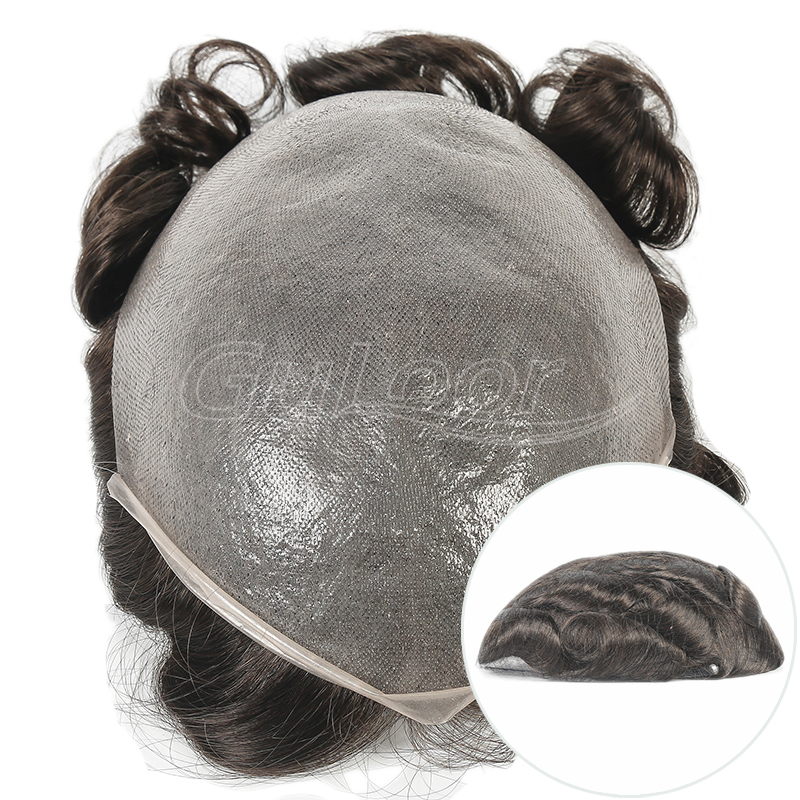 Hair Replacement Wholesale 0.02mm Ultra Thin Skin V-looped Hairpiece For Men