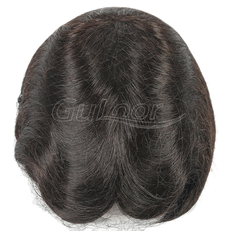 China Factory Full French Lace Large Stock Hairpieces for Men