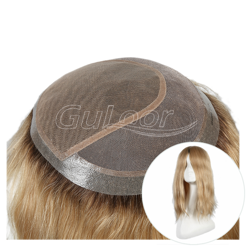 Custom Order Ombre color Ashy Blonde Human Hair Wig For Women