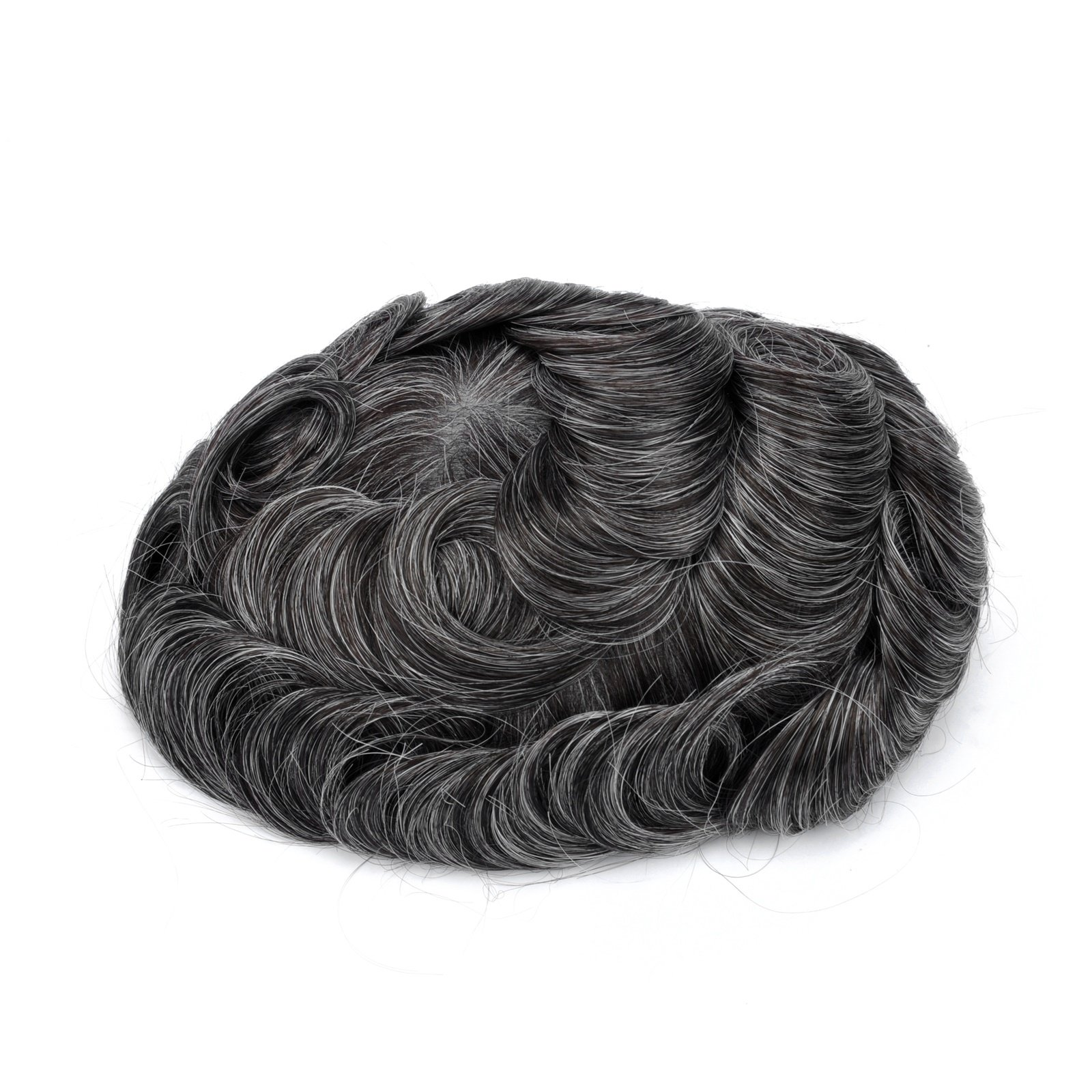Mens Toupee Hairpiece Mirage Human Hair Systems 1B30#