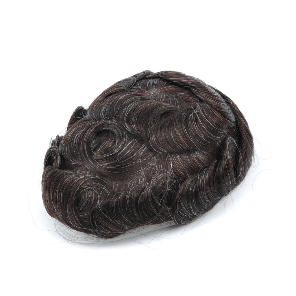 Mens Toupee Hairpiece Swiss Lace Hair Systems 220#
