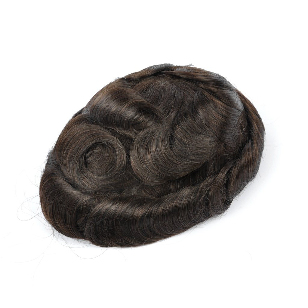 Mens Toupee Hairpiece NG Human Hair Systems ASH2#