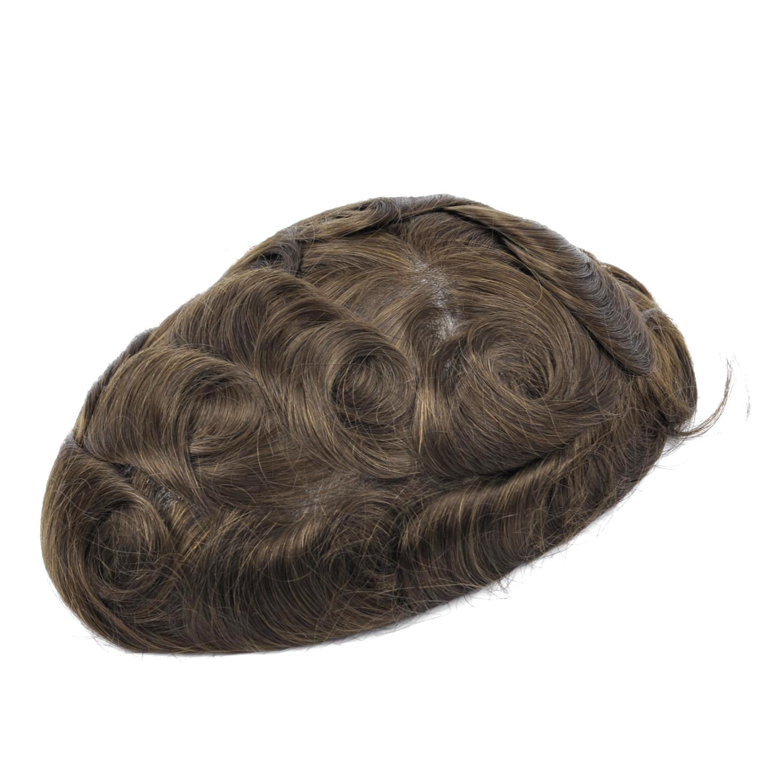 Mens Toupee Hairpiece NG Human Hair Systems ASH5#
