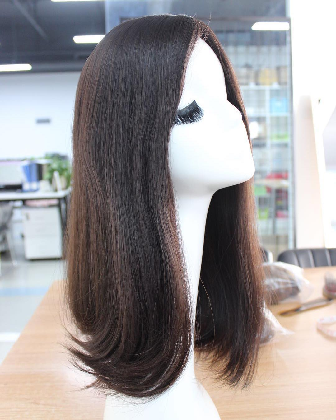 Highlight Color 100% Human Hair Qingdao Supplier Wholesale Price Jewish Wig