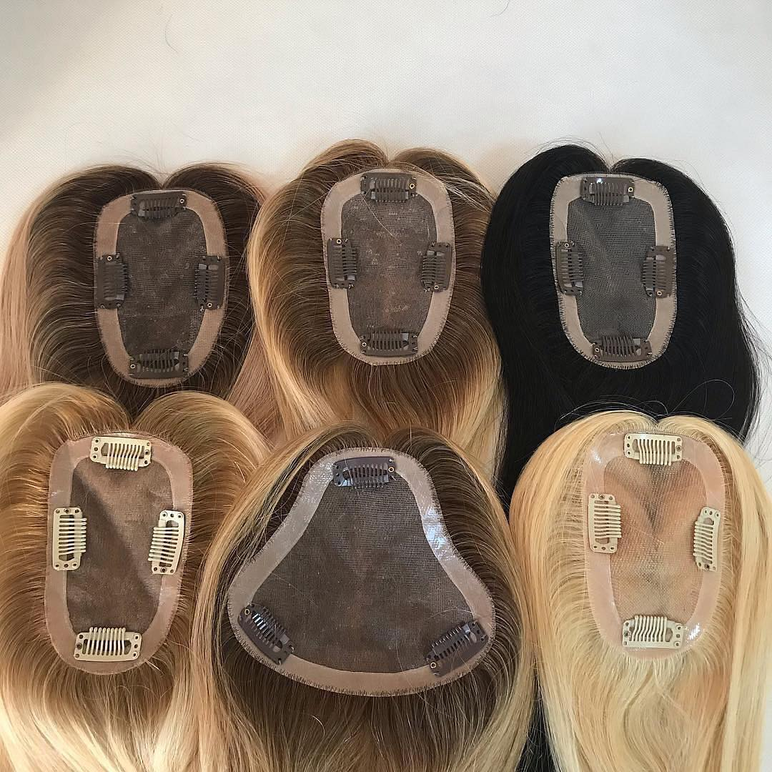 Mono Base 100% Human Hair Topper Wholesale Price High Quality