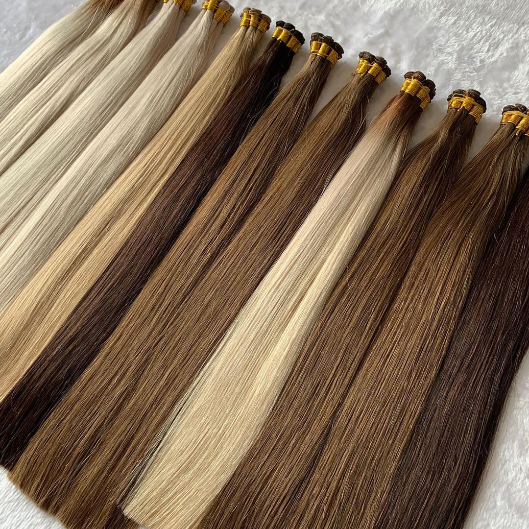 Double Drown 100% Human Hair Handtied Weft