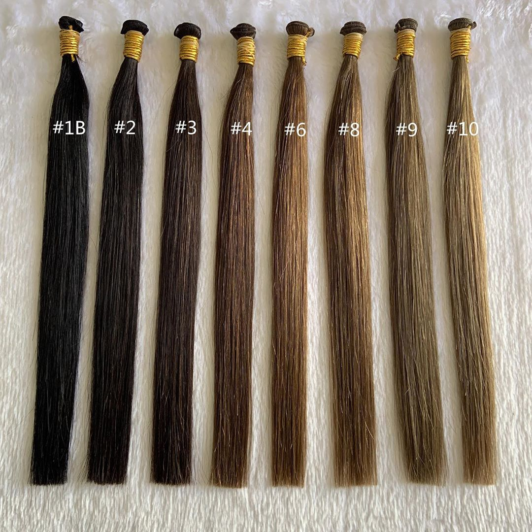 Handtied Weft Double Drawn 100% Human Hair Ombre Color