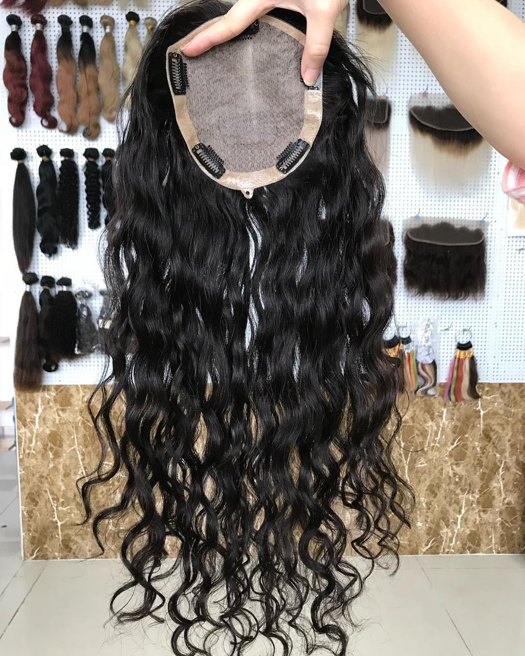 Long Hair Factory Price 100% Virgin Human Hair In Stock Silk Top Topper