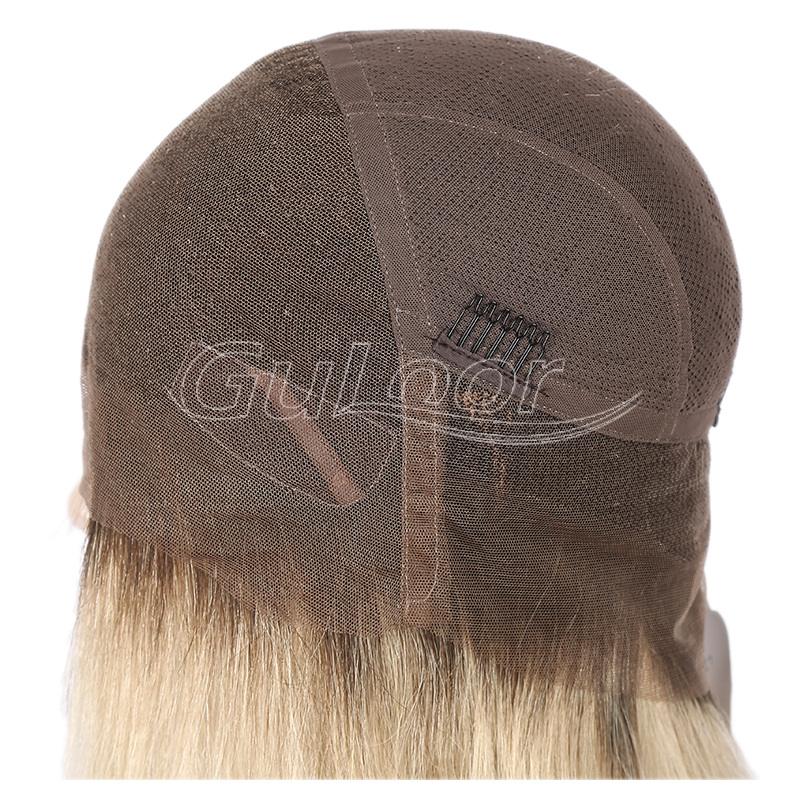 Ashy Blonde Ombre Color Hot Sale Bob Style Full Lace Wig