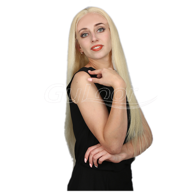 Silky Straight 613 Blonde 100% Human Hair Full Lace Wig