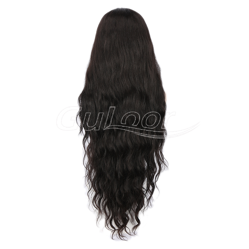 Unprocessed 100% Virgin Human Hair Long Hair Lace Front Wig
