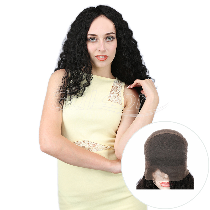 Natural Looking Curly Hair Full Lace Human Hair Wig