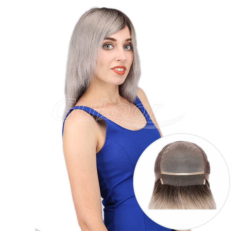 2019 Most Popular Ombre Color Mono Top Human Hair Wig